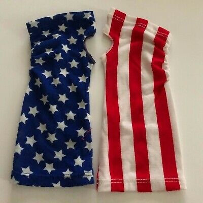 Fingerless 9 inch Long Girls Teen Gloves Patriotic USA Flag Justice