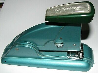 Vintage Swingline Speed Stapler - 6 inch - Green (US Navy used) - Stamped A5