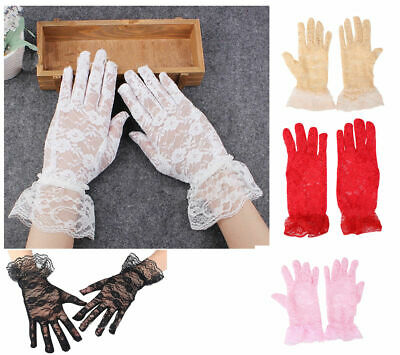 Mesh lace Gloves For Women Girls Women's lace sexy gloves Party Wedding