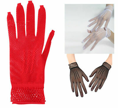 4 Color Hollow bride dance gloves Women's elastic gloves nightclub soft sexy