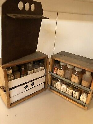 Antique Wooden Druggist Apothecary Box or Field Assay kit?