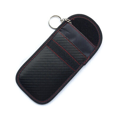 Auto Car Key Keyless Fob RFID Signal Blocking Anti Theft Guard Faraday Bag Pouch