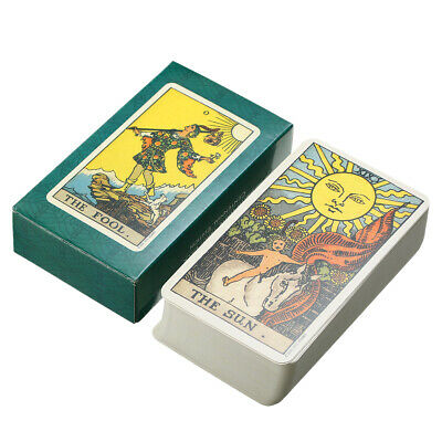 Tarot Cards Deck Vintage Antique Colorful Card Box Game 78 Card