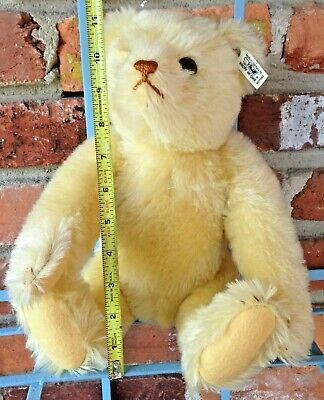 Vintage Limited Edition 1928 Steiff Music Bear - Unique Yellow Mohair Teddy!