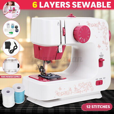 Electric Sewing Machine Household 12 Stitches Household DIY 2-Speed Foot Pedal