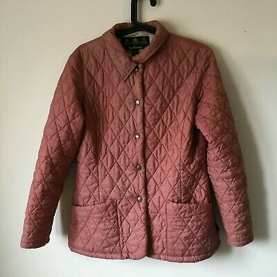 Ladies Girls Barbour Jacket Coat Padded Quilted Puffer Pink Size 8