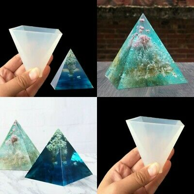 Pyramid Silicone Mold Mould Epoxy Craft Jewelry Resin Pendant Tool Making DIY