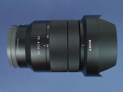 Sony Zeiss FE 24-70mm F4 ZA OSS Lens To Fit Sony Alpha 7&9, Hood, Caps, Boxed