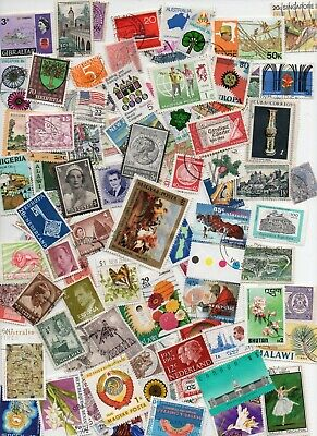 ALL WORLD STAMPS 1000- All Different - Off paper  (lot 142)