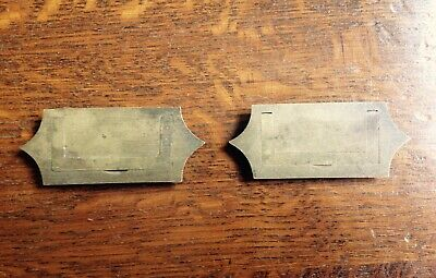 2 Antique Brass Inset Cabinet Drawer  Writing Slope Handles