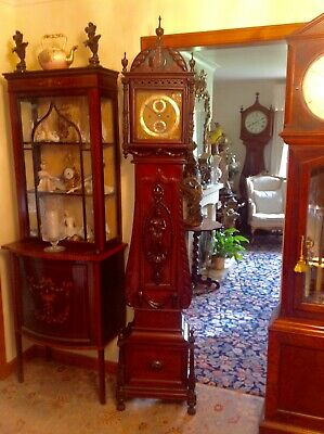 19th Century rare Regulator longcase grandfather clock