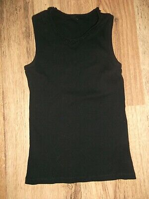 Girls Black Vest Summer Top Age 8-9 Years By George.