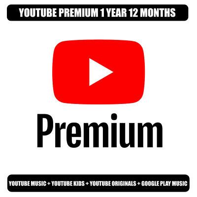 Youtube Premium 1 Year 12 Months + Youtube Music | NEW ACCOUNT |