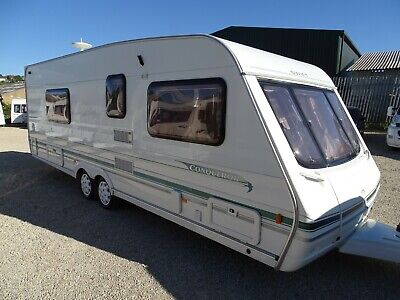 Swift Conqueror 630 2001 4 Berth Twin Axle Touring Caravan Air Con and Fixed Bed