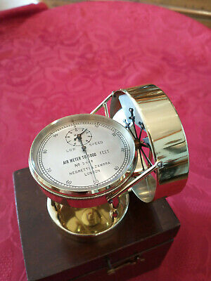 Antique Anemometer air meter by Negretti and Zambra