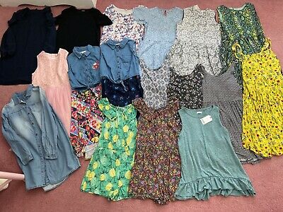 Girls Age 11/12 Large Bundle, Dresses/Jumpsuits, Next, River Island, Bluezoo Etc