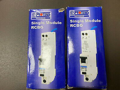 2 Number Proteus RCBO, Single Module, 2 Poles