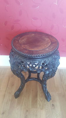 Chinese hardwood pedestal Coffee Table Antique Project
