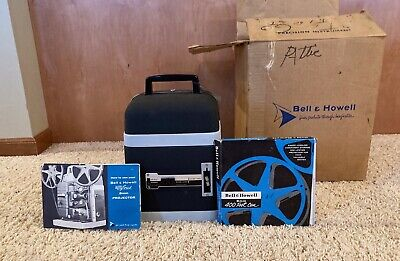 VINTAGE Bell And Howell 8mm Projector With Original Box/Manual