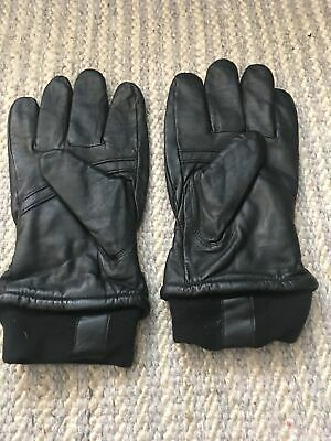 Mens Wilsons Leather Black Gloves size XL
