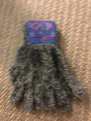 Kids Arctic exposure Winter Fuzzy wear gloves Gray New