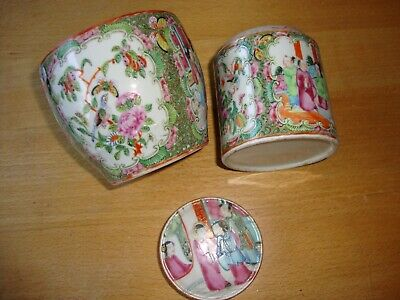 3 pieces of Famille Rose Chinese porcelain