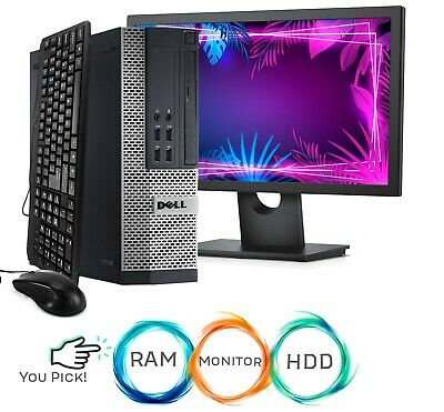 Custom Build YOUR Dell Desktop Computer 1TB HDD 16GB Memory Monitor Bundle WiFi