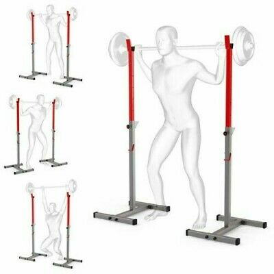 Olympic Squat Rack Power Stands Barbell Adjustable Press Weight Uk Stock