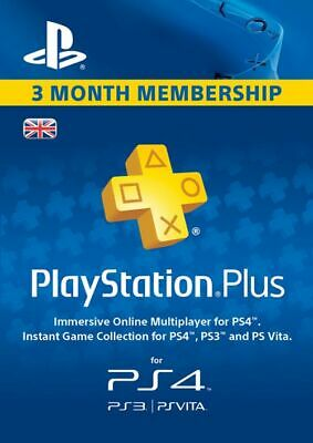SONY PlayStation Plus - 3 Month Subscription (UK)