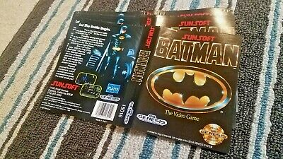 BOX ART ONLY Batman The Video Game Sunsoft Original Sega Genesis Case Sleeve