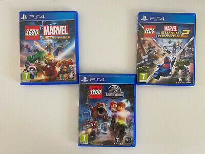 PS4 Lego Super Hero 1 And 2 Jurassic World Games Bundle