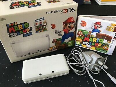Nintendo 3Ds Console Ice White With Super Mario 3D Land Game Boxed