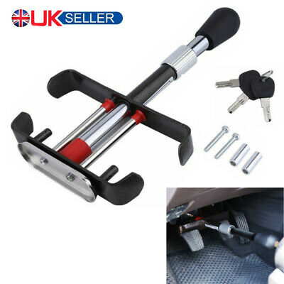 Car Brake Clutch Foot Pedal Security Anti Theft Adjustable Clamp Lock With Keys