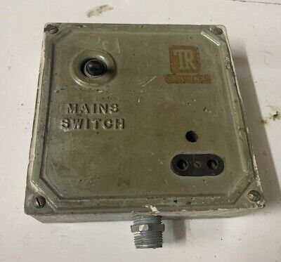 Mains Switch Cast Metal Vintage Industrial retro rare rustic toggle