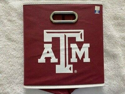 Texas A&M NCAA Licensed Team Storage Containers Collapsible Bin NEW *FAST SHIP*
