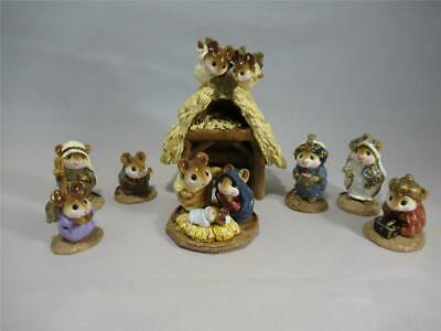 Wee Forest Folk Lot of 8 Nativity Set - WFF - Christmas Mice