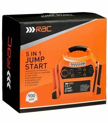 Rac 12V Portable 5 IN 1 Car Jump Starter Air Compressor Battery Booster Charge