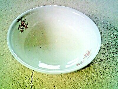 Large Victorian China Wash  Bowl  Floral Pattern