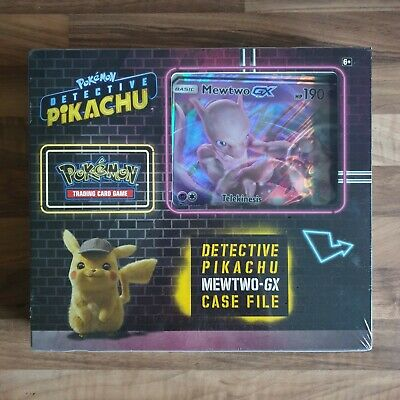 POKEMON TCG Detective Pikachu Mewtwo GX Case File Collector's Box - New & Sealed