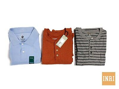 Lot Of Three (3) Long Sleeve Henleys Short Sleeve Polo Shirts 3Xl 4Xl Goodfellow