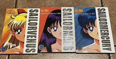 Sailor Moon Scout Guides for Mercury Venus Mars USED USED