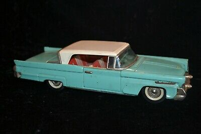 Vintage Tin Model Lincoln Continental Mark III Toy 1958 Good used condition