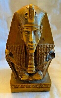 Ancient Egyptian Pharaoh Akhenaten Bust Figure Head