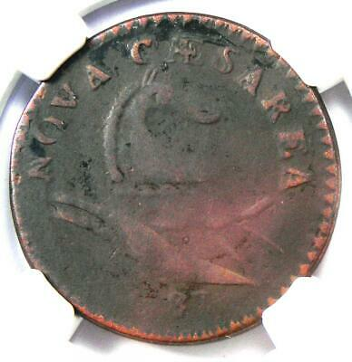 1787 New Jersey Colonial Coin (No Plow Sprig) - Certified NGC Fine Details