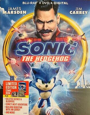 Sonic The Hedgehog Blu Ray And Dvd