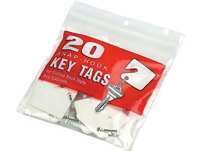 MMF Industries Slotted Rack Key Tags, White 201300006