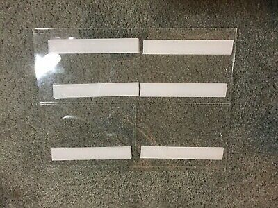 6 Acrylic Sign Holders with 4 slots each