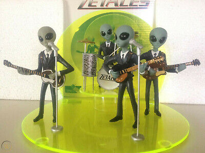 """The Zetales"" Alien Rock Band figurines Shadowbox Collectibles 1999 RARE"