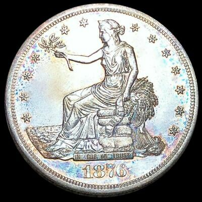1876-S Silver Trade Dollar.  AU Details. LOW SHIPPING!!