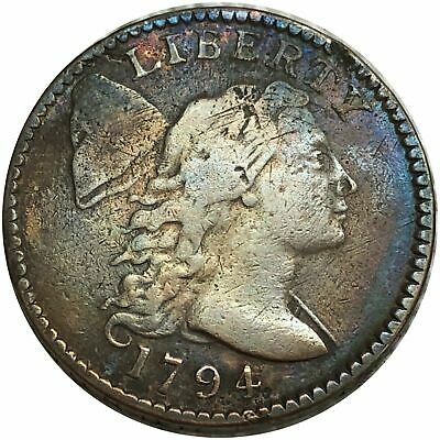 1794 Liberty Cap Bust Large Cent $1/100  Beautiful Copper Coin.
